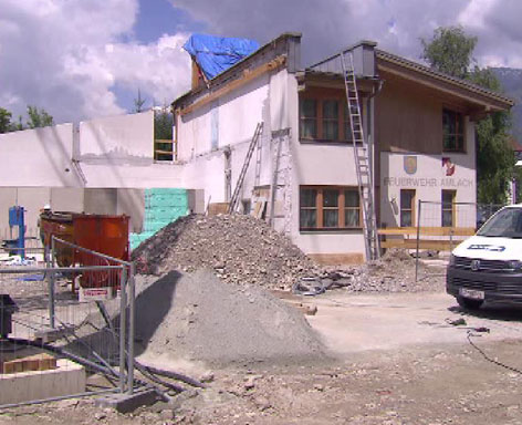Amlach Feuerwehrhaus Baubeginn