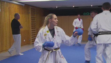 Alisa Buchinger beim Training