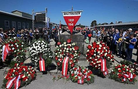 """Befreiungsfeier des Mauthausen Komitee Österreich (MKÖ) mit dem Thema """"Flucht und Heimat"""" am 6. Mai 2018, in der KZ-Gedenkstätte Mauthausen"""