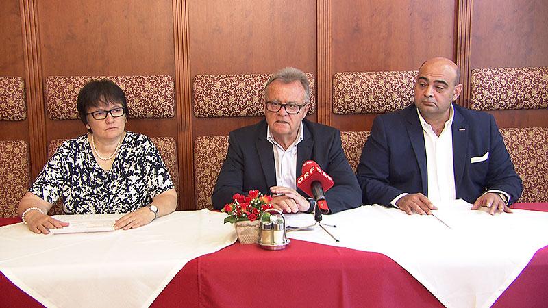 Karin Stampfel, Hans Niessl, Hannes Mosonyi