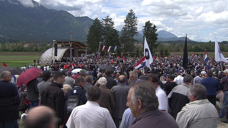 Kroaten Loibacher Feld Bleiburg Gedenken Ustascha