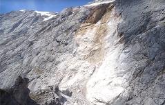 Großer Bergsturz auf dem Hohen Brett