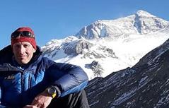 Rupert Hauer auf dem Mount Everest von China aus