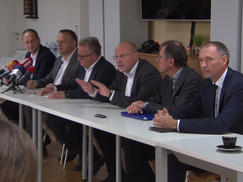 konferencija za štampu o izgradnji širokotračne željeznice breitsprubahn pk