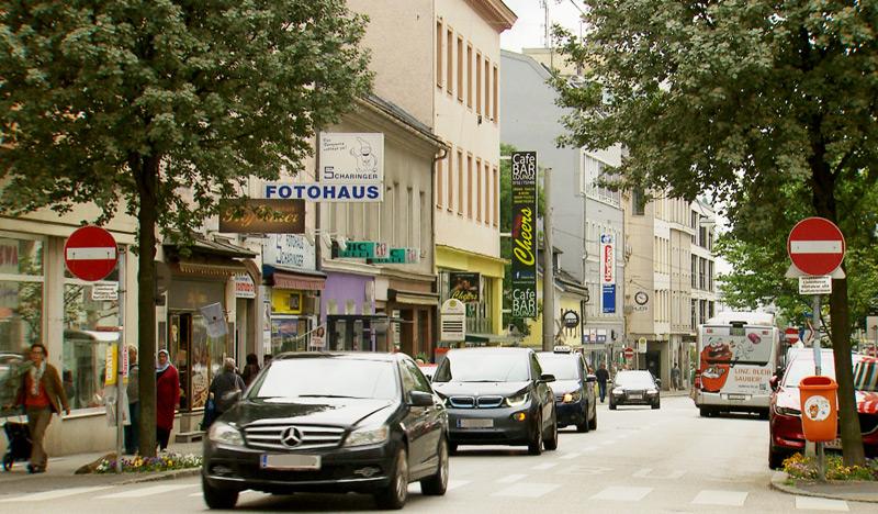 Hauptstraße in Linz-Urfahr