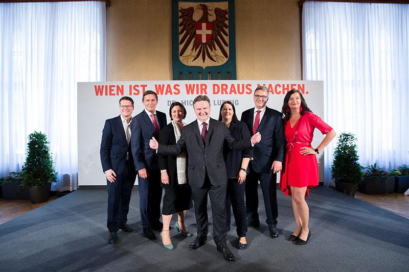Übersichtsbild neues SPÖ Regierungsteam