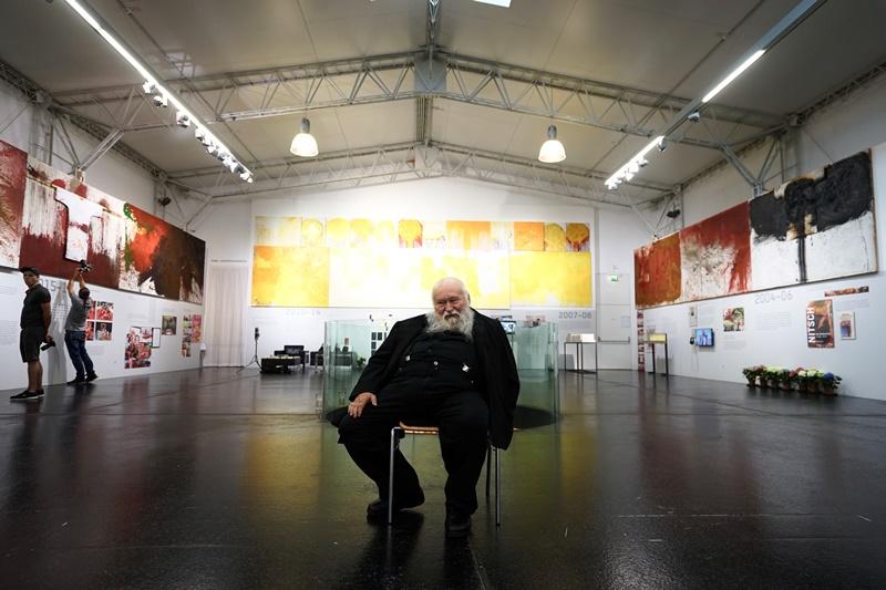 Hermann Nitsch Eröffnung Ausstellung