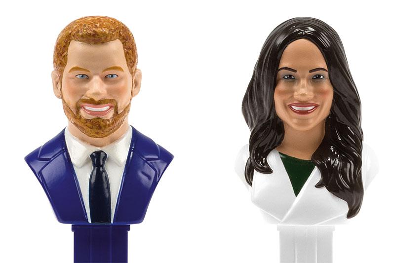 Prinz Harry und Meghan Markle als PEZ-Spender