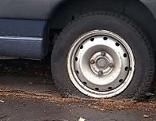 Zerstochener Reifen
