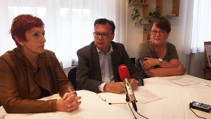 Klaudia Friedl, Norbert Darabos und Gabriele Arenberger