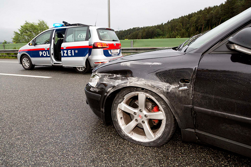 Unfall vor Ambergtunnel
