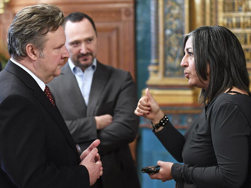 Vassilakou und Ludwig im Gespräch