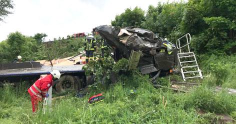 LKW-Unfall bei Laakirchen