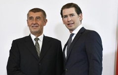 Andrej Babiš a Sebastian Kurz, 18.května 2018