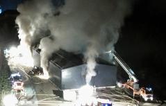 Brand in Lagerhalle in Leutasch