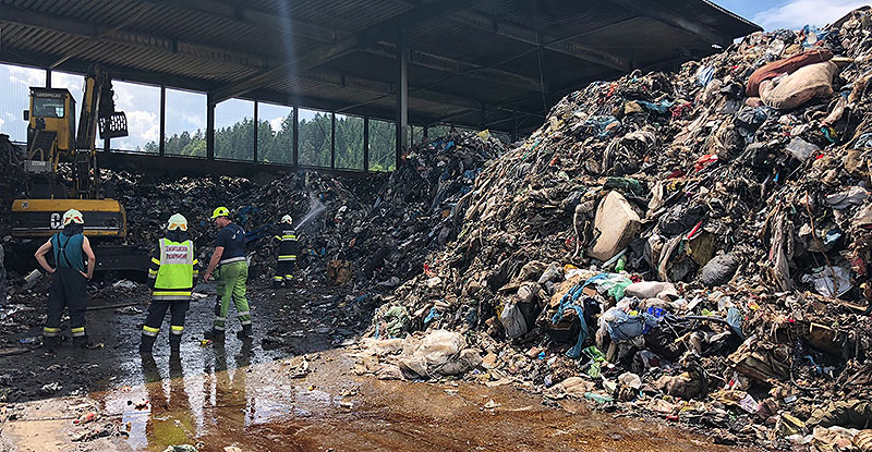 Brand Müllanlage Völkermarkt Tainach