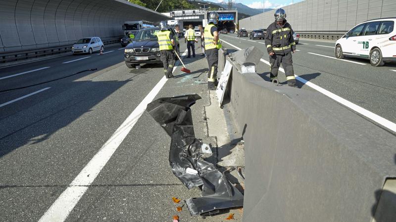 Unfall mit Bus Inntalautobahn