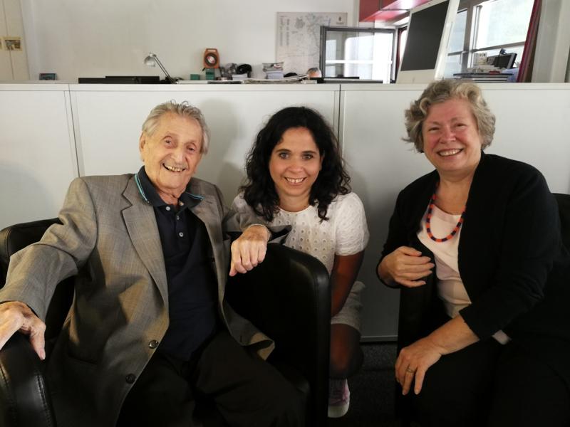 Marko Feingold, Hannah Feingold, Gabi Kerschbaumer