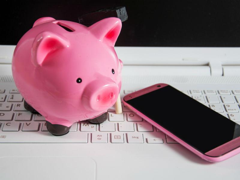 Sparschwein Computer Handy