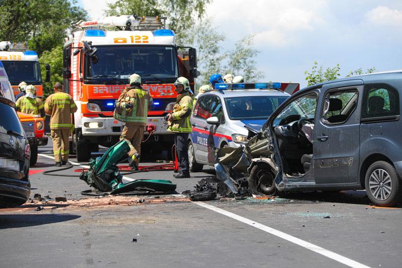 Verkehrsunfall in Ebelsberg