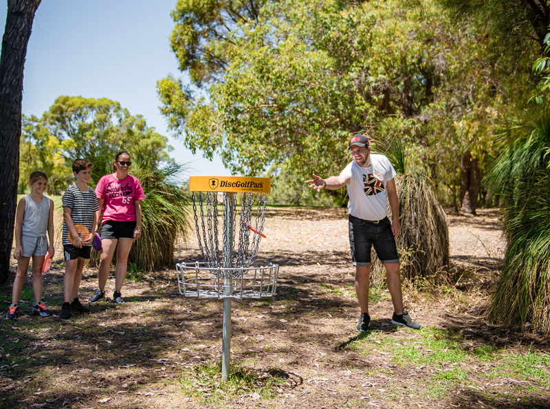 disc golf familie