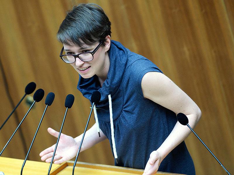 Die ehemalige Grüne Abgeordnete Sigrid Maurer