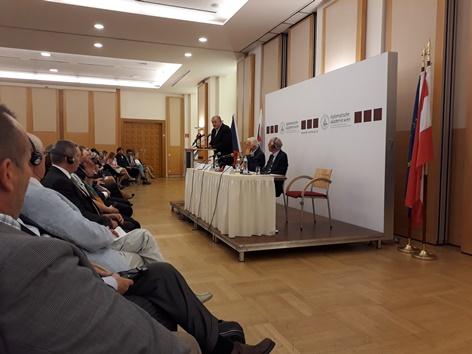 Vladimir Meciar und Vaclav Klaus in Wien | 25 Jahre Trennung der Tschechoslowakei