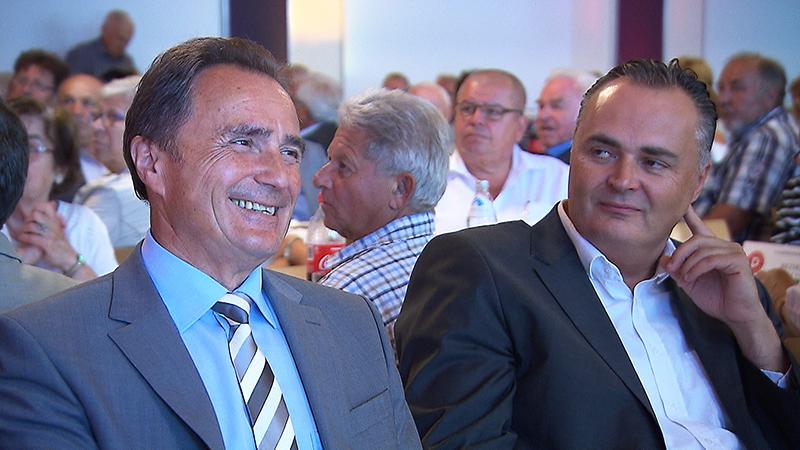 Helmut Bieler und Hans Peter Doskozil bei der Landeskonferenz des Pensionistenverbandes