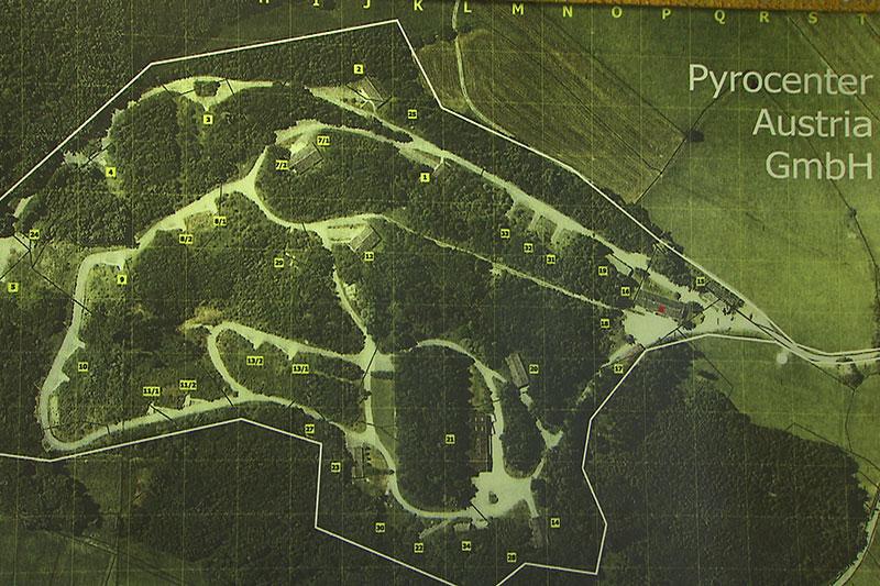 Plan des ehemaligen Bundesheer Munitionslagers Gois