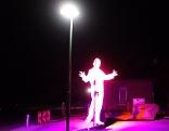 Falco-Denkmal bei Nacht