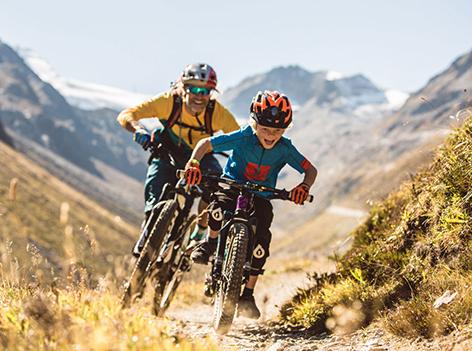 mountainbike papa sohn