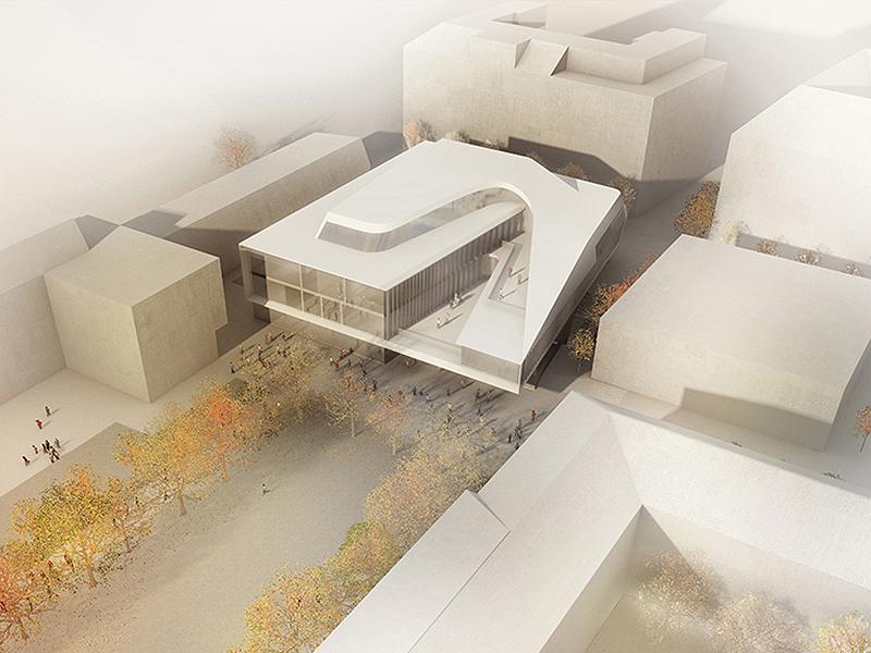 Modell für neues Institutsgebäude MDW