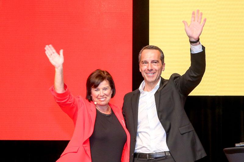 Birgit Gerstorfer und Christian Kern