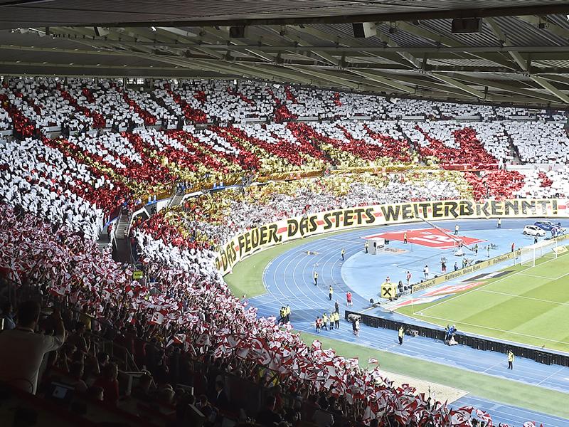 Fans im Ernst-Happel-Stadion