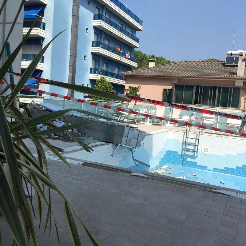 Abgestürzter Pool in Jesolo