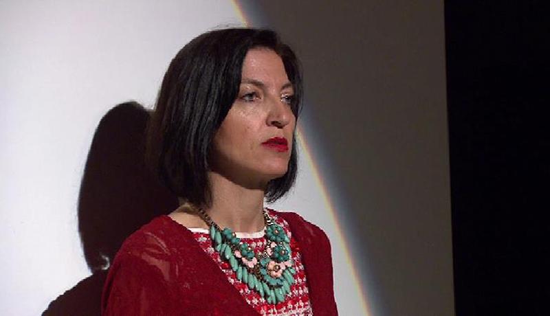 Andrea Jöbstl-Prattes in der Rolle der Medea im Theater im Kürbis Wies