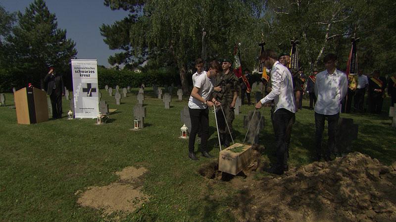 Beisetzung Soldat aus 2. WK