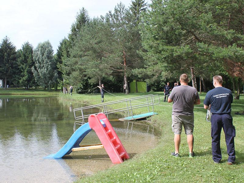 Tauchdienst, Einsatz Römersee