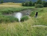 Teich wird befüllt