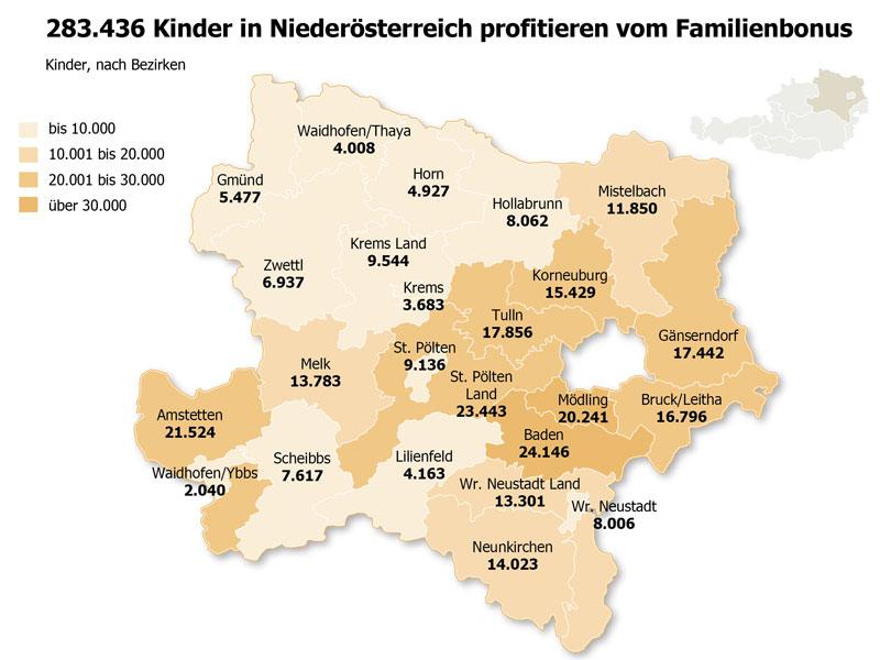 Familienbonus Kinder profitieren Niederösterreich
