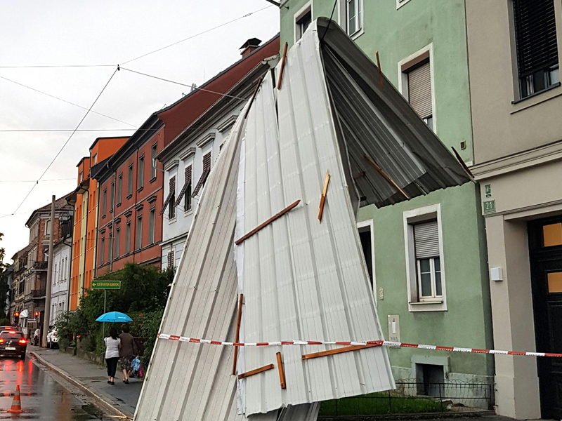 Unwetter in Graz