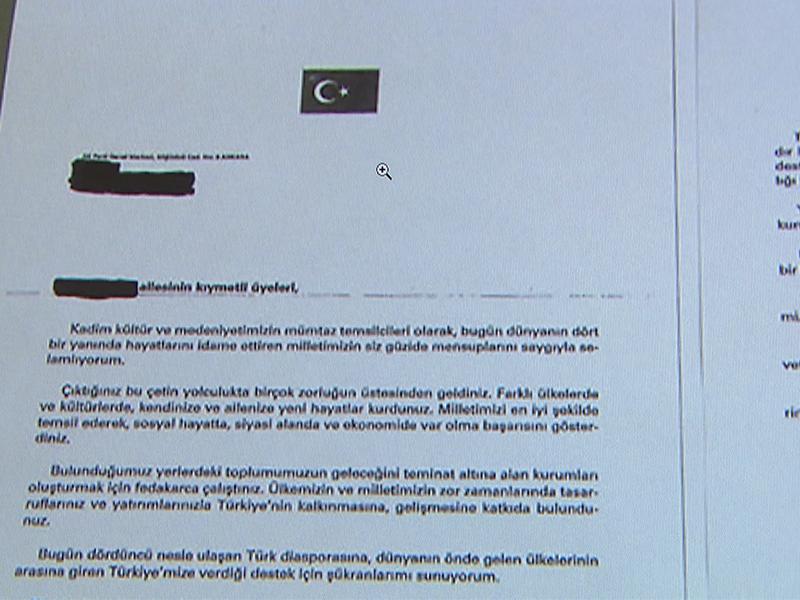 Brief von Erdogan an Wiener Schüler