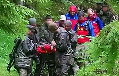 Einsatz für verletzten Soldaten in Bayern