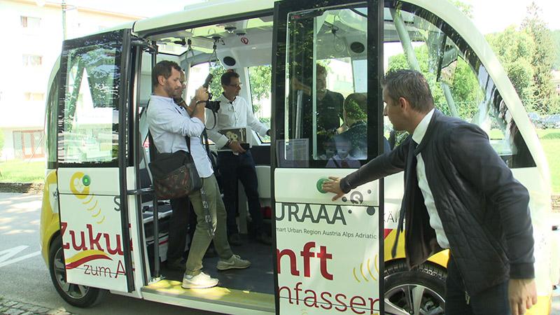 Elektrobus Autonom Shuttle Pörtschach