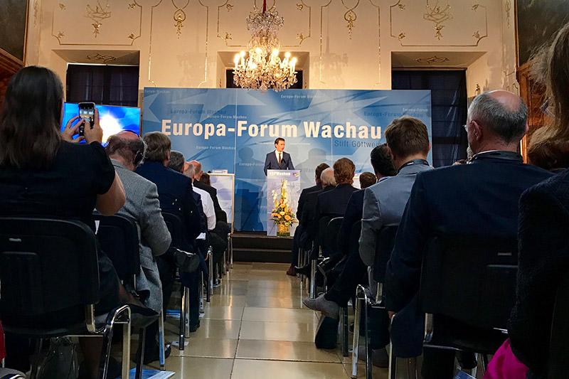 Europa Forum Wachau Tag zwei Sebastian Kurz