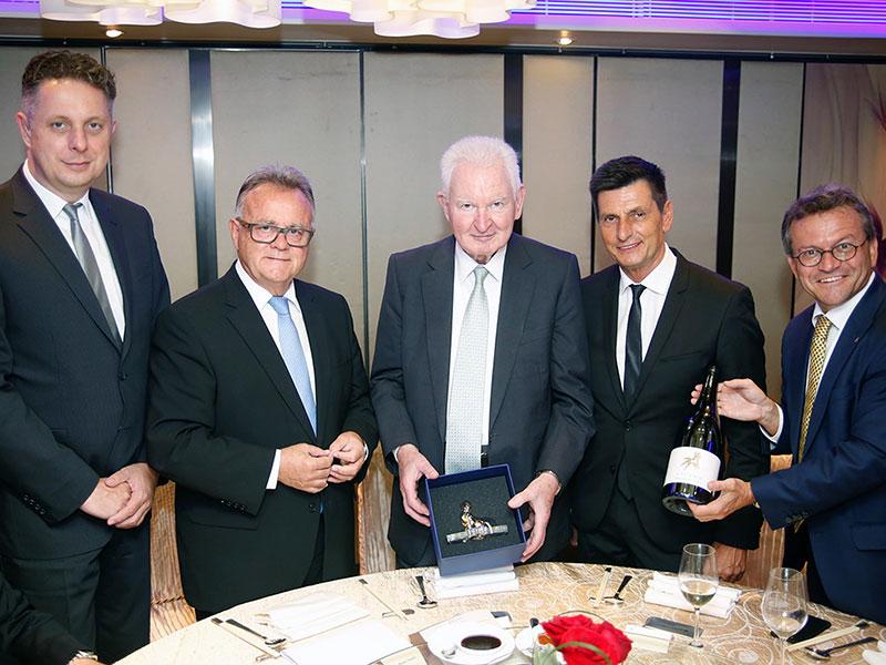 Tourismuslandesrat  Petschnig, LH Hans Niessl, Dr. Helmut Sohmen,  Landtagspräsident  Illedits, Generalkonsul Michael Kratzer