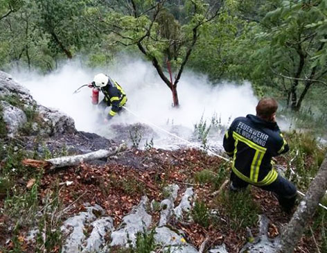 Waldbrand auf dem Schafberg