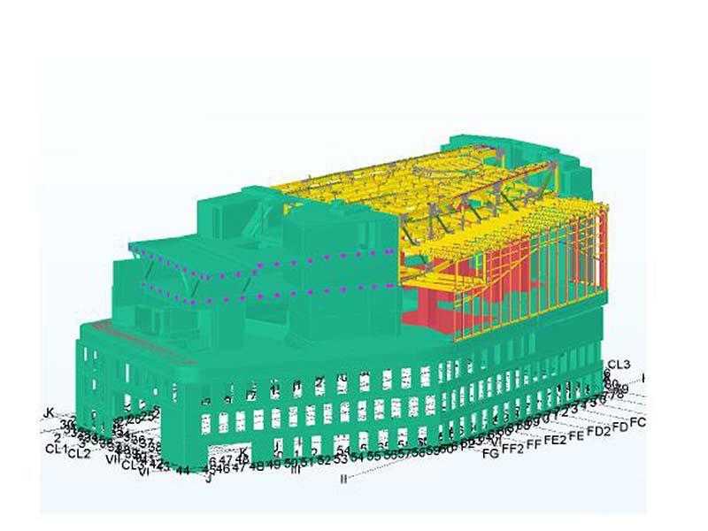 Dachkonstruktion Paracelsusbad