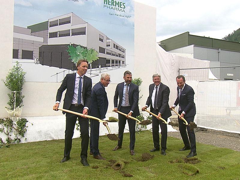 Hermes Wolfsberg Spatenstich Neubau