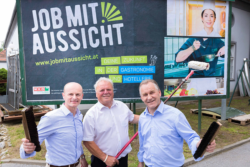 Obleute für Gastronomie, Tourismus und Hotellerie: Klaus Friedl , Franz Perhab  und Johann Spreitzhofer